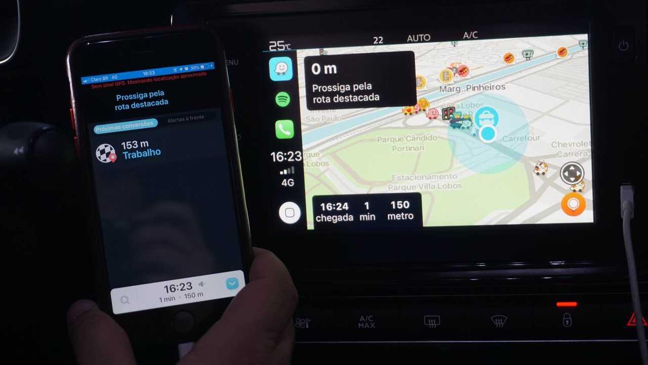 Waze e Google Maps no Apple CarPlay