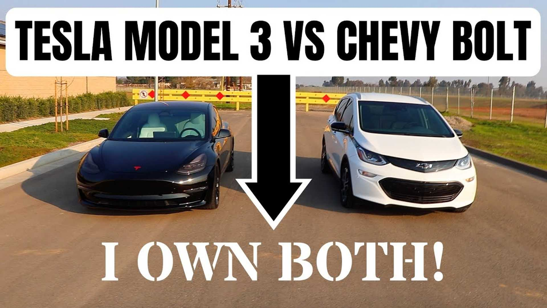 Tesla Model 3 Vs Chevy Bolt From An Owner's Perspective