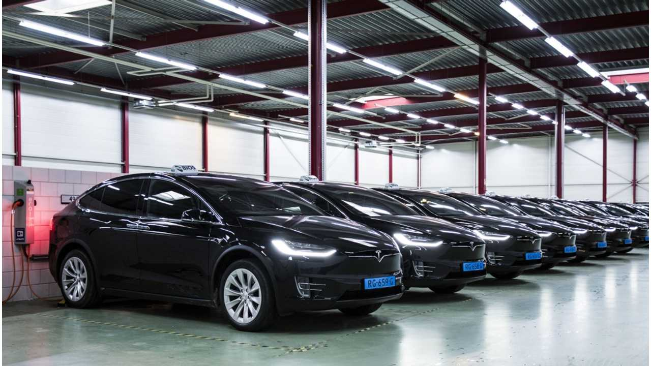 Tesla Taxis Comprised 70% Of The 1 Million Rides At Amsterdam Airport