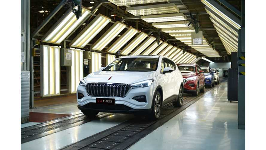 FAW's Hongqi Launches First Electric SUV Called E-HS3
