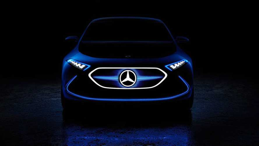 Mercedes-Benz Teases Electric EQ A Crossover