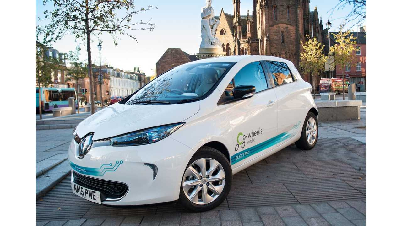 20 Renault ZOE Added To Car Sharing Club Co-wheels Fleet In UK