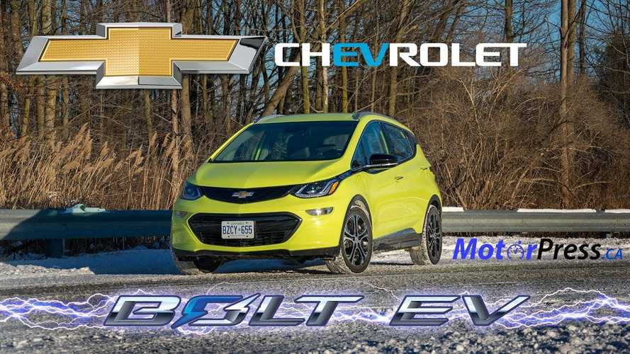 2019 Chevy Bolt EV Test Drive Review In Canadian Winter: Video