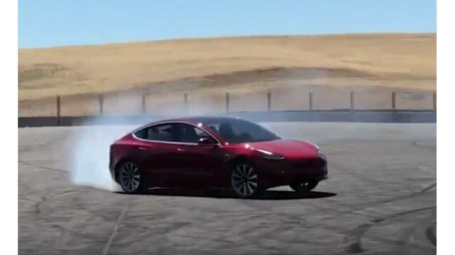 Watch Tesla Model 3 Performance Do Donuts