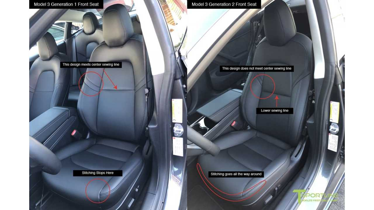 First Look At Tesla Model 3 With White Seats