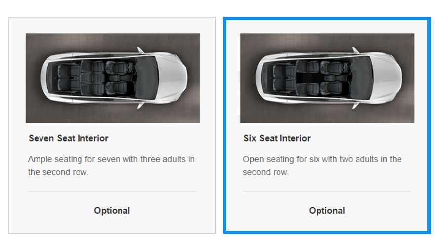 Tesla Model X Gets 6-Seat Option