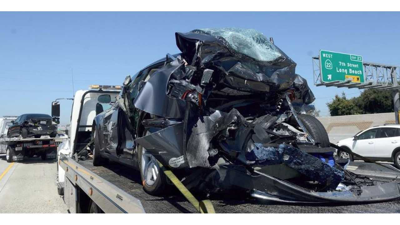 Fatality Reported In Accident Involving Rear-Ended Tesla Model S