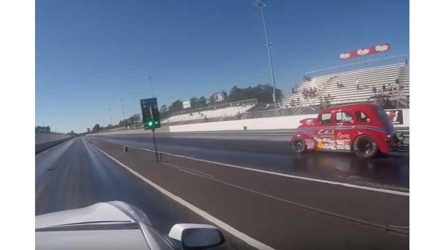 Tesla Model S P100DL Races All Sorts Of Drag Cars - Video