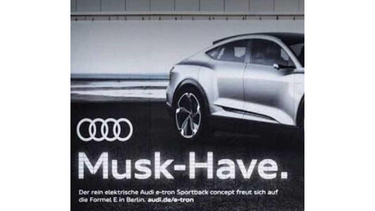 Audi E-Tron Ad Takes Jab At Tesla CEO Elon Musk