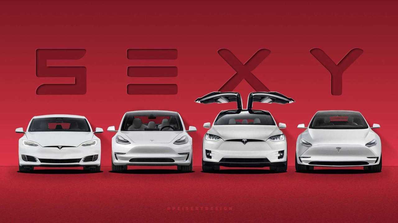<em>Tesla Vehicle Lineup Via Preisert Design</em>