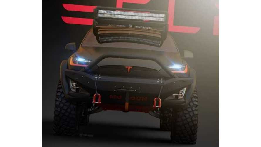 Off-Road-Ready Tesla Model X Rendered