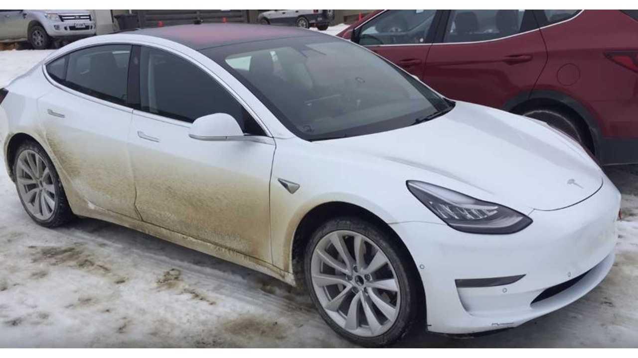 model 3 snow