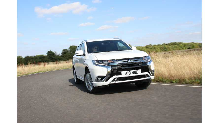 Outlander PHEV Captures 41% Of Mitsubishi Sales In UK