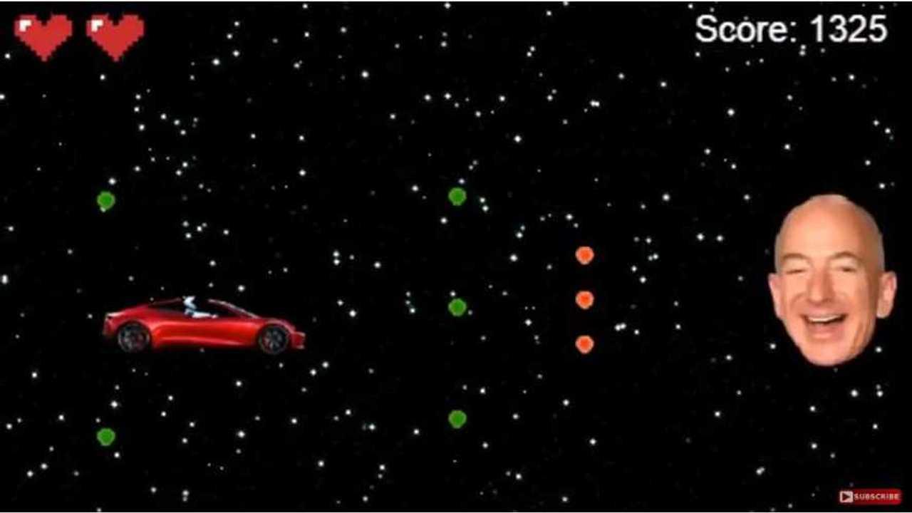 Tesla Starman Battles Jeff Bezos In This Retro Space Shooter Game