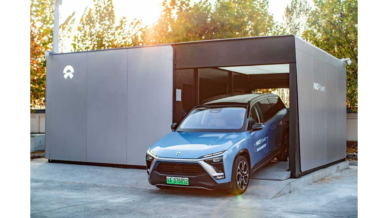 NIO Now Has 18 Battery Swapping Stations: Watch Swap In Action