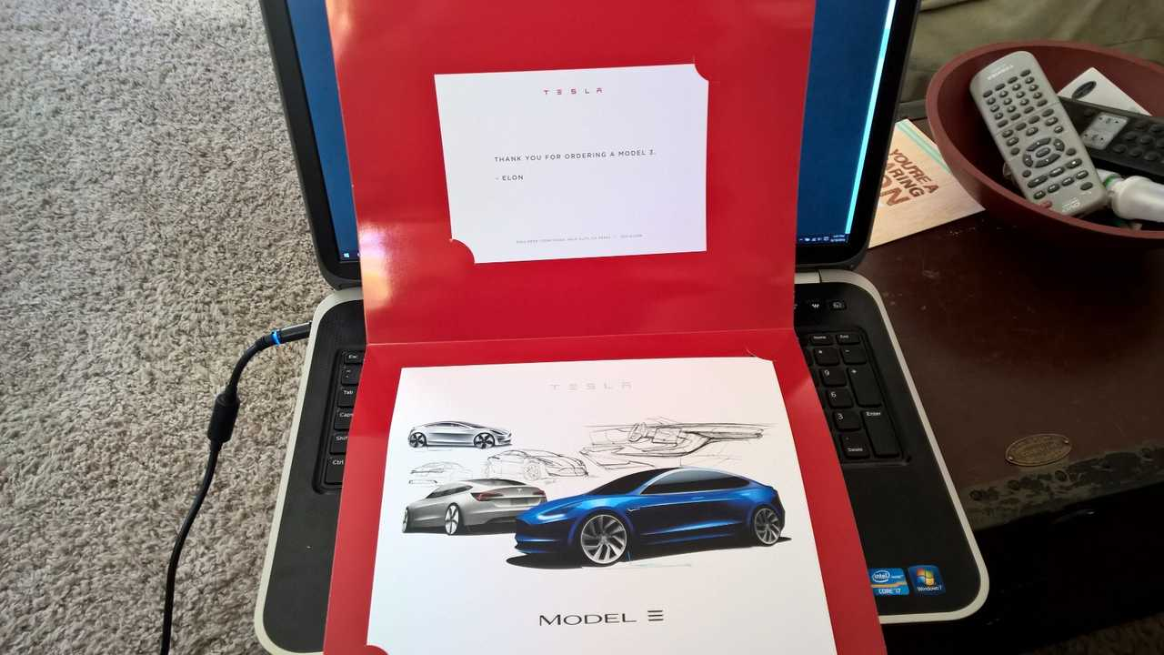 Tesla Model 3 Reservation Holders Receive Small Token Of Appreciation