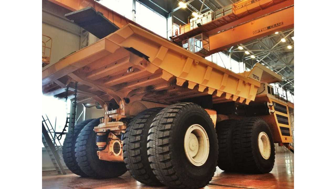 800-ton GVW BelAZ 75710 mining truck