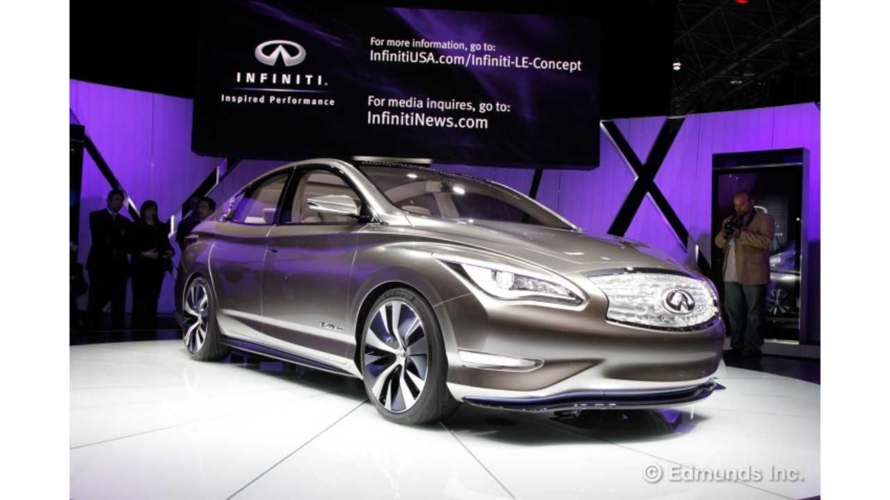 Infiniti LE Coming As A 2018 With 60 kWh NMC Battery?