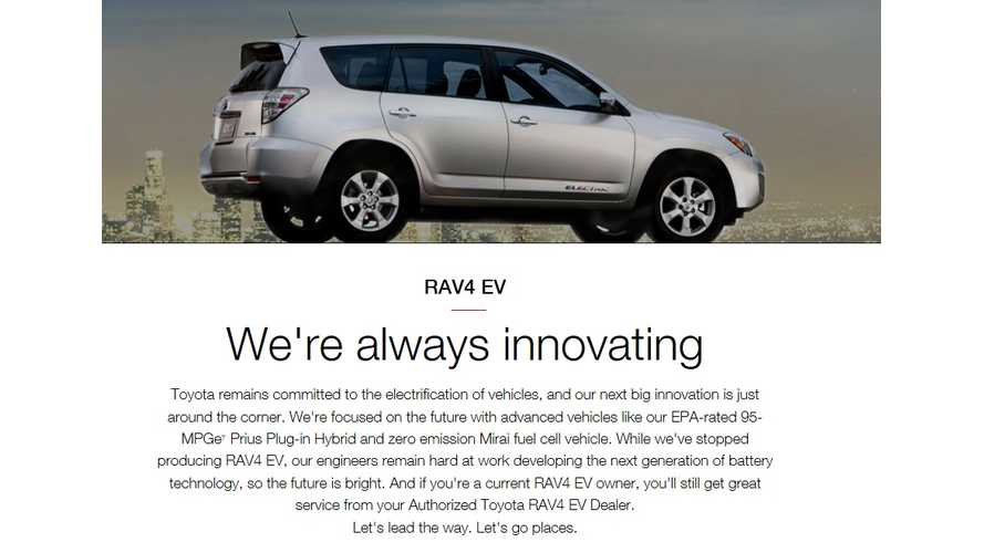 Consider The RAV4 EV Officially Done: Toyota Pulls From Website