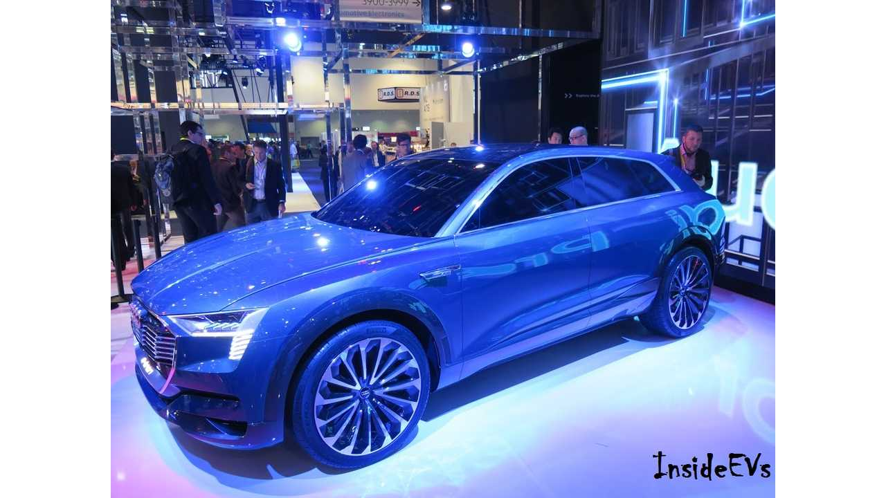 Audi brought its all-electric e-tron to CES a year ago