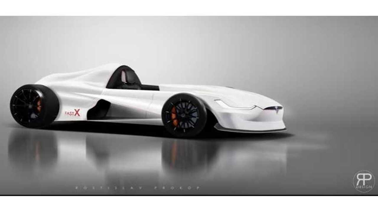 Tesla Model X-Inspired Formula E Racer Rendered - Video
