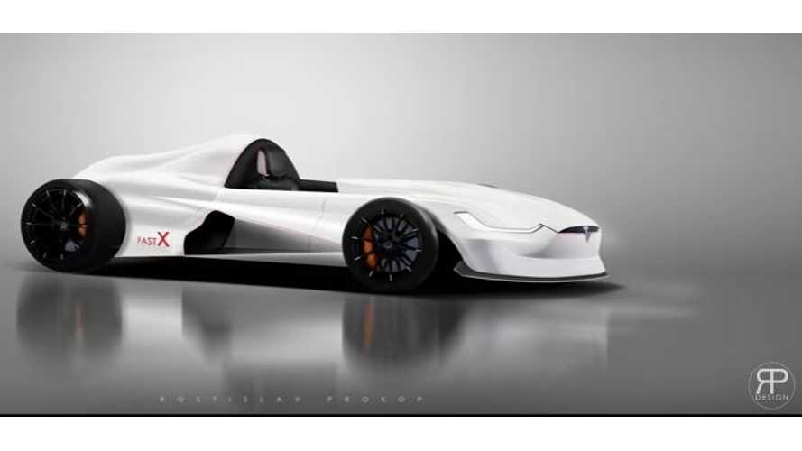 Tesla Model X-Inspired Formula E Racer Rendered - Video