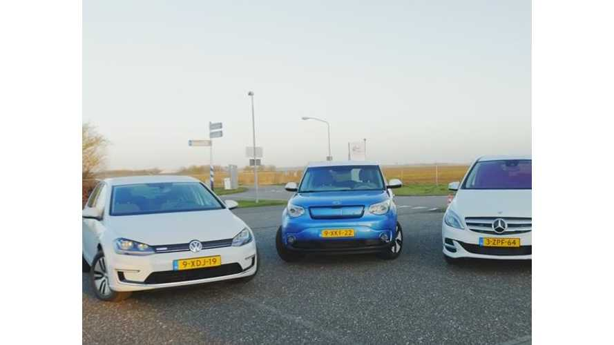 Mercedes-Benz B-Class Electric Drive Wins Comparison Test Against Kia Soul EV & Volkswagen e-Golf - Video