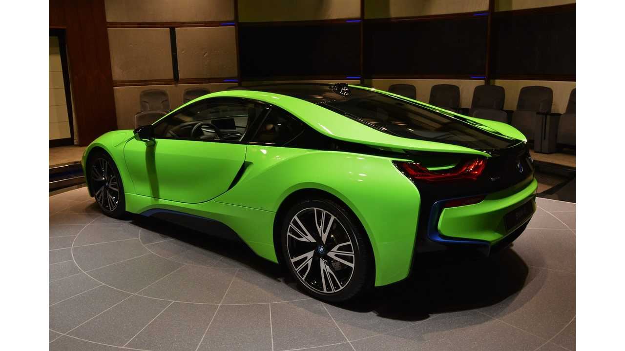 Bmw I8 Wrapped In Neon Green Yuck