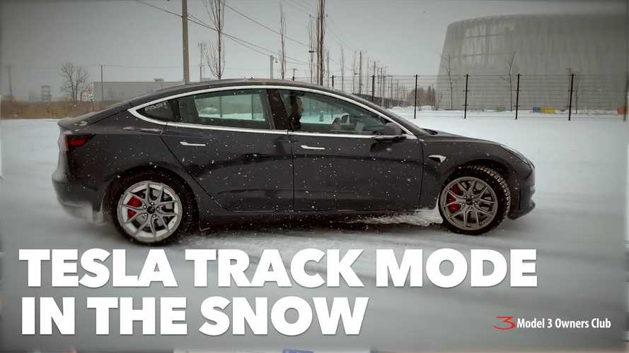 Watch Tesla Model 3 Track Mode Tested In The Snow