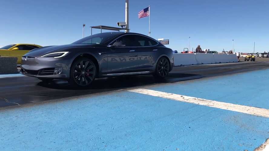 Check Out Slo-Mo Launch Of Tesla Model S P100D - Plus It Races Hellcat, Camaro