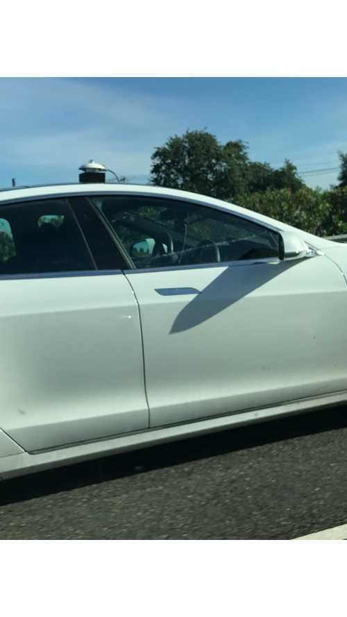 Double Steering Wheel Tesla Model S Spotted