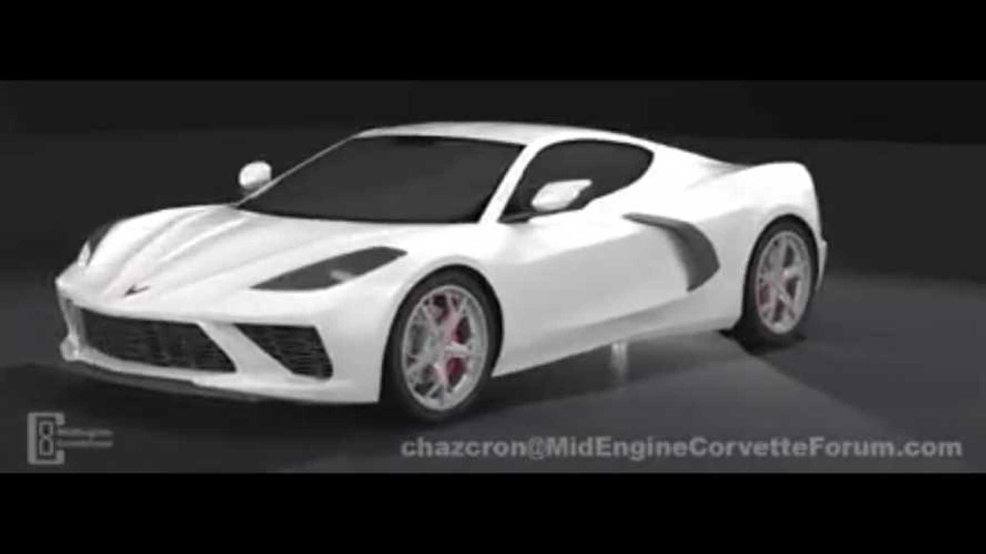 Mid-Engine Corvette 360 Degree Fan Render | Motor1 com Photos