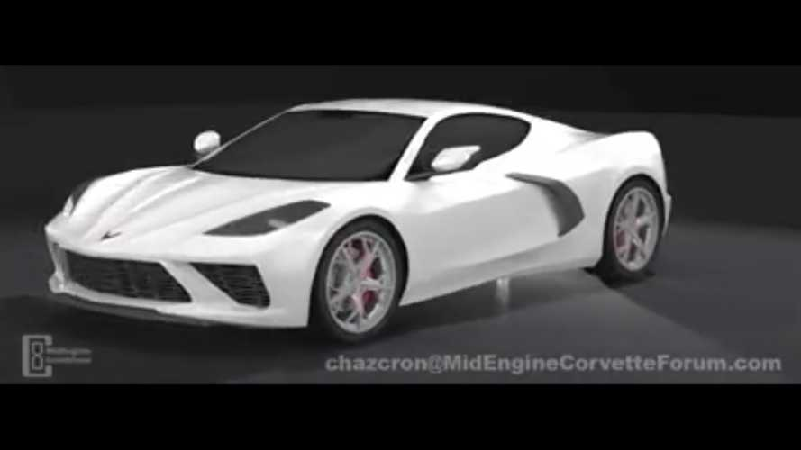 Mid-Engine Corvette 360 Degree Fan Render