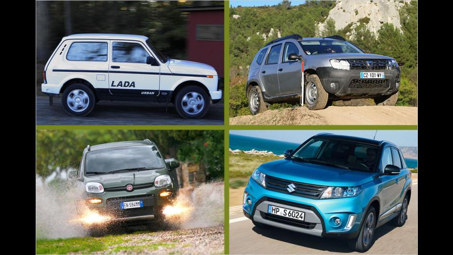Die zehn günstigsten Neuwagen mit Allradantrieb