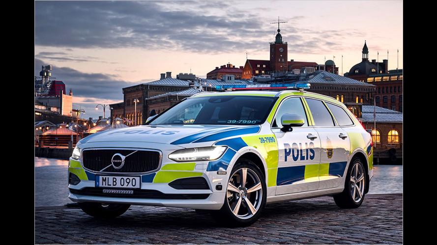 Volvo V90 tritt Polizeidienst an
