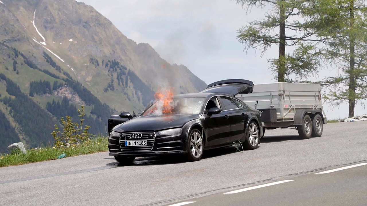 2019 Audi A7 Test Car Spied Breathing Fire In The Alps
