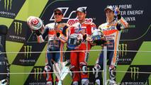 Podio MotoGP Catalunya