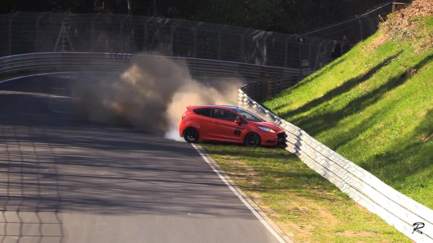 Une Ford Fiesta ST à deux doigts du crash