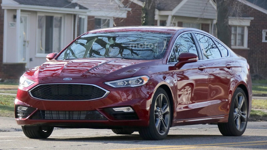 2017 Ford Fusion spied undisguised ahead of Detroit debut