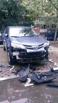 Toyota RAV4 damaged by dogs