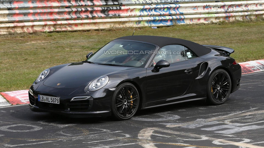 2014 Porsche 911 Turbo Cabrio spied without camo
