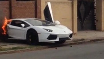 lamborgini aventador crash splits supercar in half video