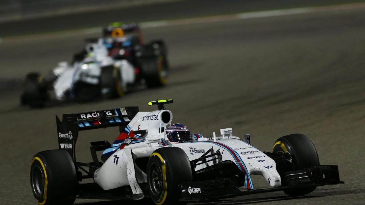 Valtteri Bottas (FIN) and Felipe Massa (BRA), 06.04.2014, Bahrain Grand Prix, Sakhir / XPB
