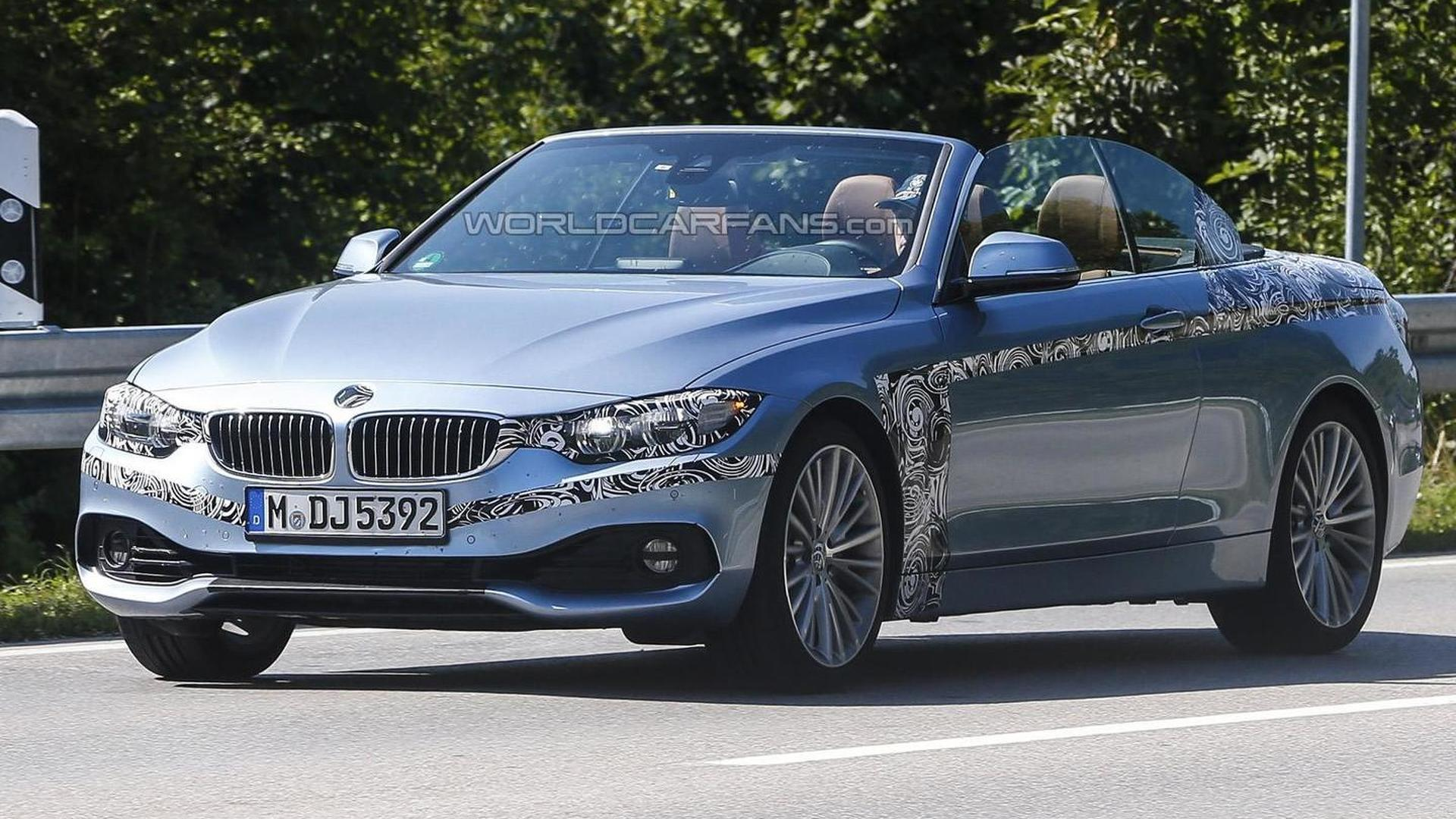 2014 Bmw 4 Series Convertible Spied With The Top Down