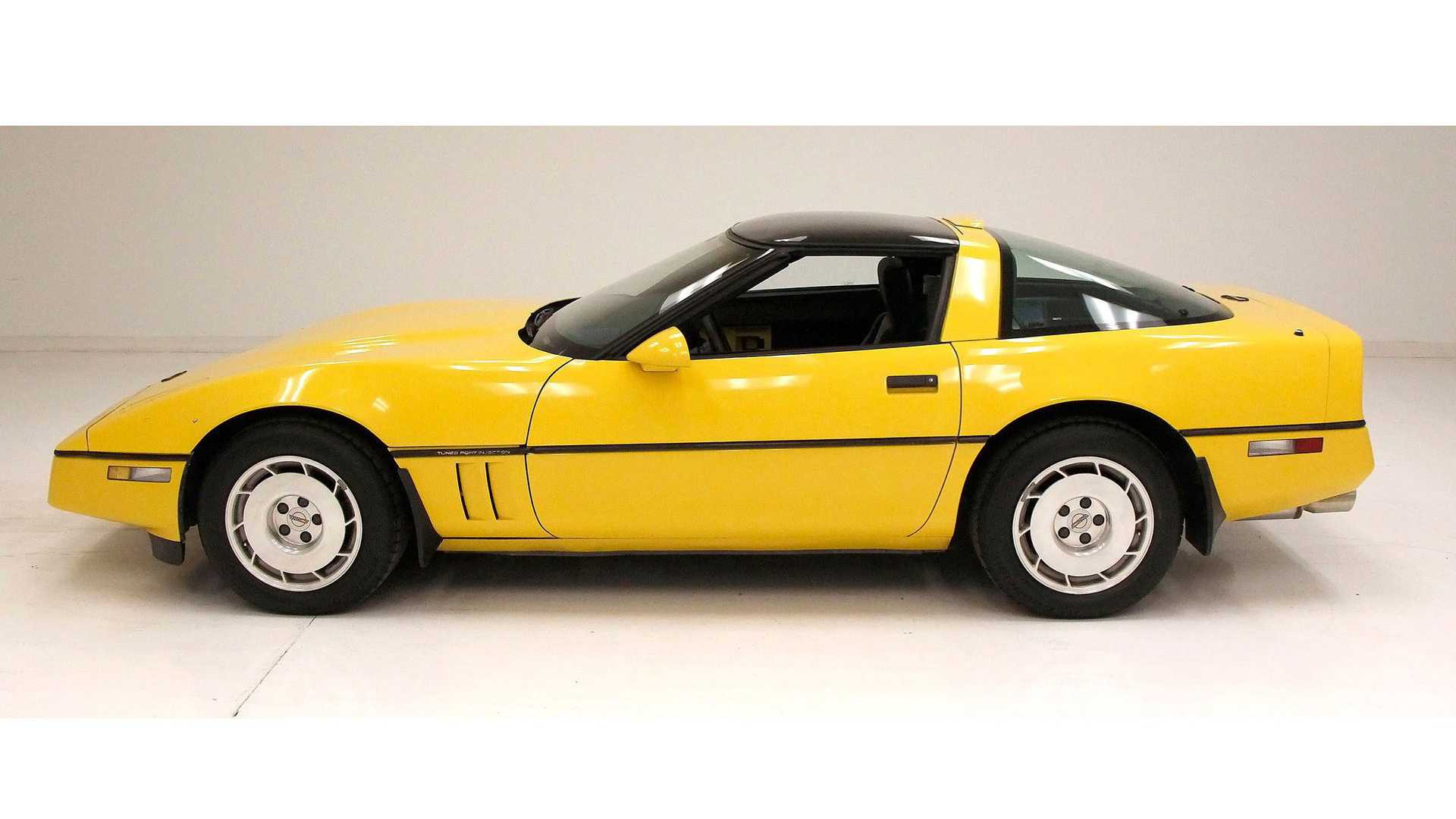 "[""Mellow Out With This Yellow 1986 Chevrolet Corvette""]"