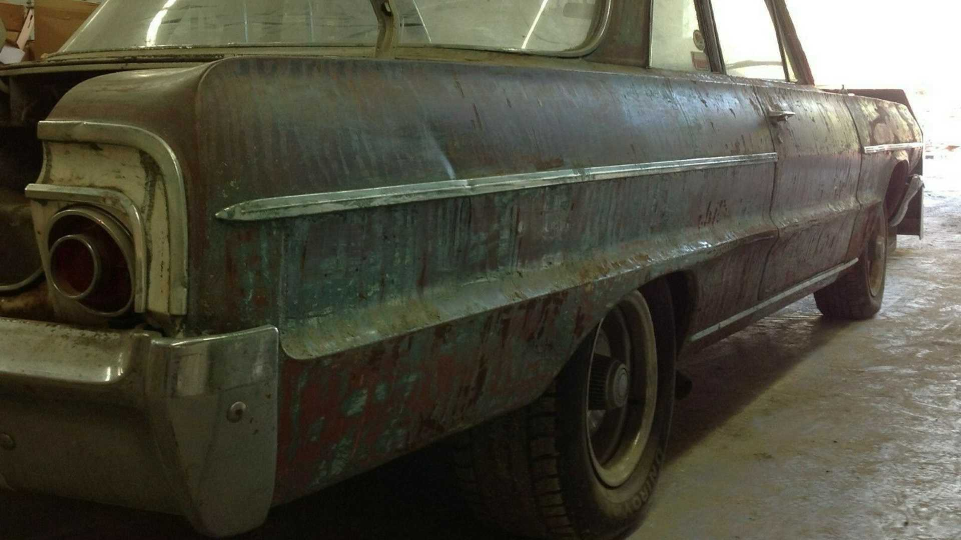 "[""eBay Find: Barn Find 1964 Chevrolet Bel Air Two-Door""]"