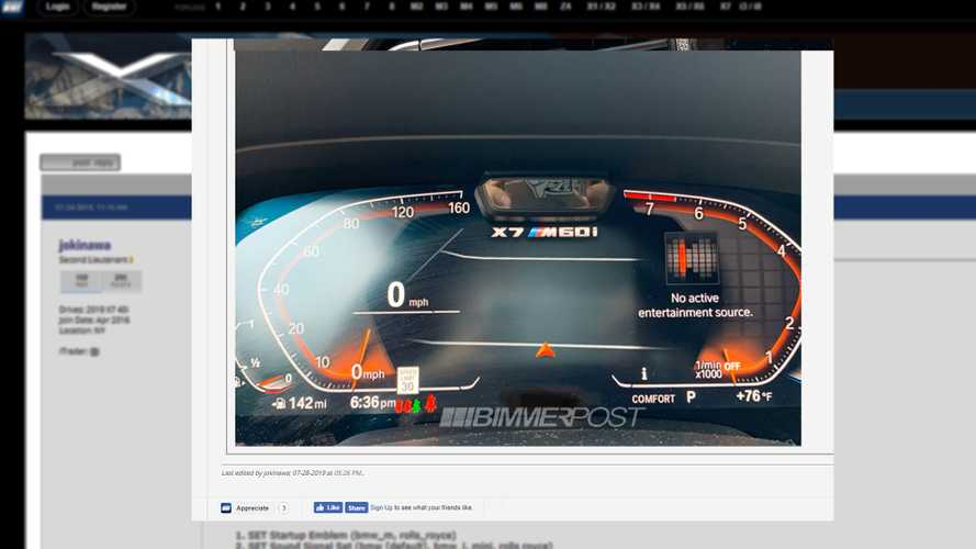BMW X7 M60i digital instrument cluster suggests V12 SUV is coming