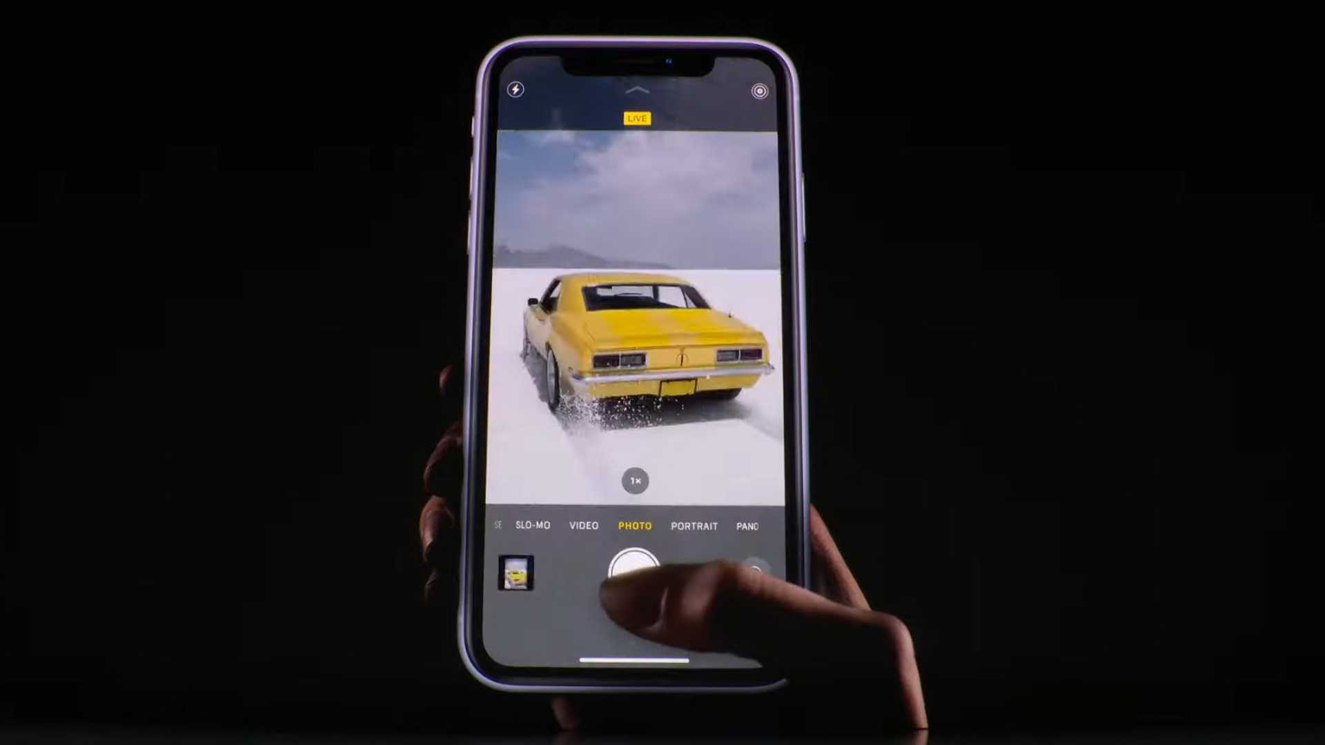 """[""""Watch How Apple Used Chevy Muscle Cars To Show Off iPhone 11 Tricks""""]"""