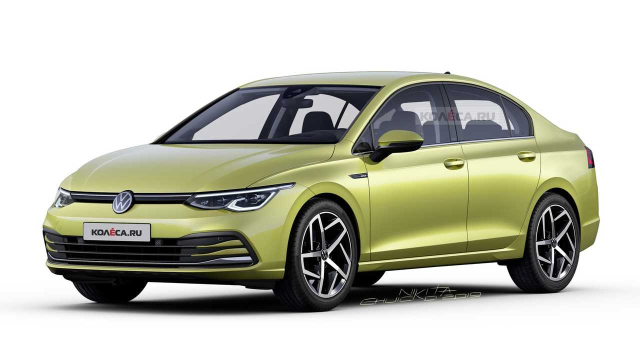 Volkswagen Golf 8 sedan rendering