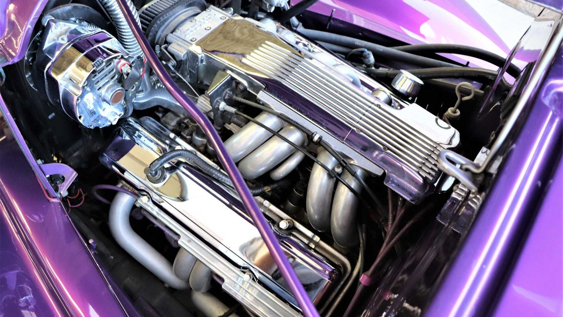 """[""""'38 Chevy Street Rod Is A Tubbed Purple Three-Seater""""]"""